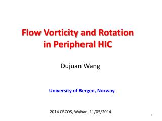Flow  Vorticity  and Rotation  in Peripheral HIC