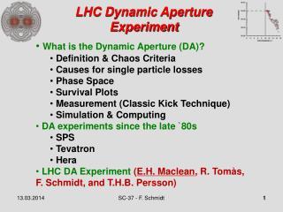LHC Dynamic Aperture Experiment