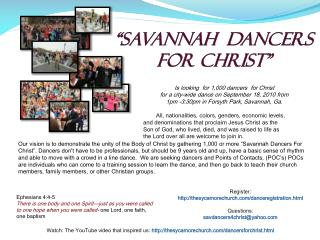 """Savannah  Dancers  for  Christ"""