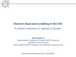 Electron cloud and scrubbing in the LHC