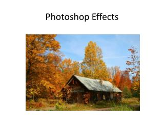 Photoshop  Effects