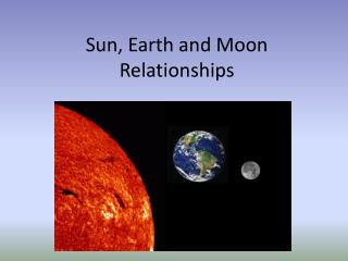 Sun, Earth and Moon Relationships