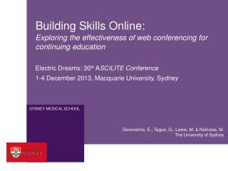 Building Skills Online: