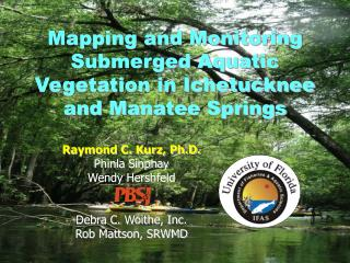 Mapping and Monitoring Submerged Aquatic Vegetation in Ichetucknee and Manatee Springs