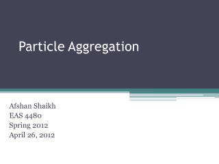 Particle Aggregation