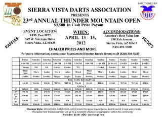 SIERRA VISTA DARTS ASSOCIATION