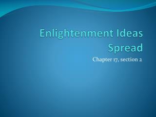 Enlightenment Ideas Spread