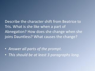 Beatrice Characterization 3.8 Paragraph