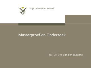 Masterproef en Onderzoek