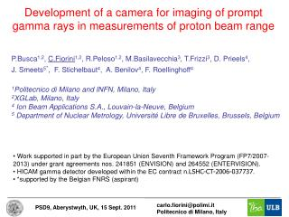 Development of a camera for imaging of prompt gamma rays in measurements of proton beam range