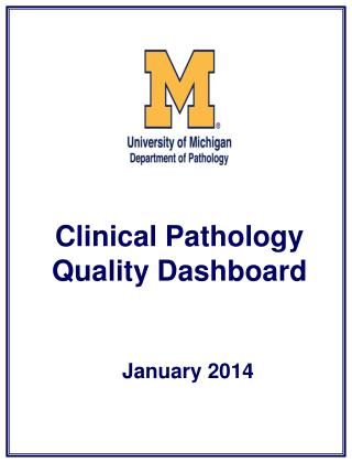 Clinical Pathology Quality Dashboard