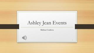 Ashley Jean Events