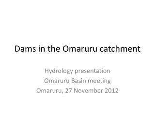 Dams in the Omaruru catchment