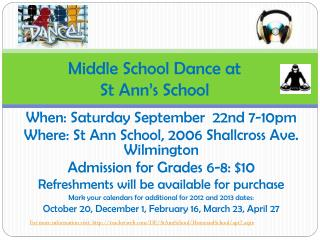 Middle School Dance at  St Ann's School