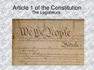 Article 1 of the Constitution