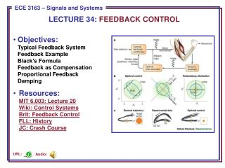 LECTURE  34:  FEEDBACK CONTROL