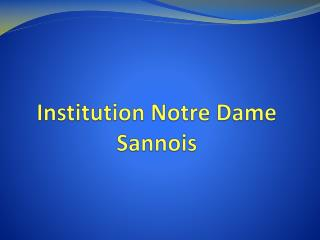Institution Notre Dame Sannois