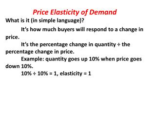 Price Elasticity of Demand What is it (in simple language)?
