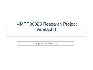 MMPR30023 Research Project Artefact 3