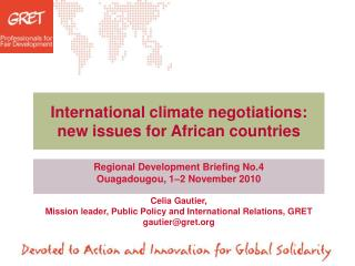 International climate negotiations: new issues for African countries