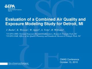 Evaluation of a Combined Air Quality and Exposure Modeling Study for Detroit, MI