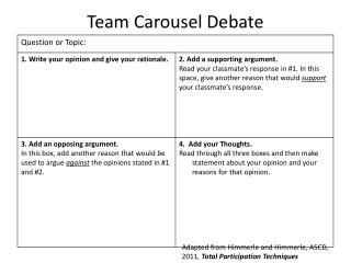 Team Carousel Debate