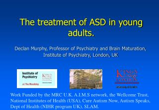 The treatment of ASD in young adults.
