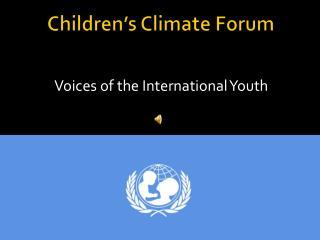 Children�s Climate Forum