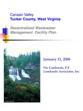 Canaan Valley  Tucker County, West Virginia    Decentralized Wastewater Management  Facility Plan