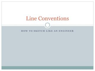 Line Conventions