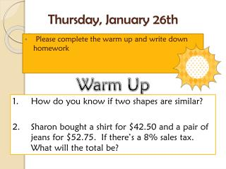 Thursday,  January  26th