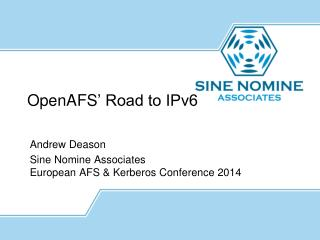 OpenAFS ' Road to IPv6