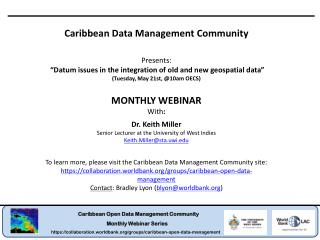 Caribbean Data Management Community Presents: