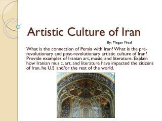 Artistic Culture of Iran