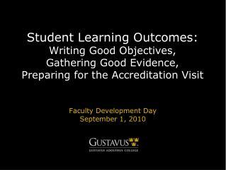 Faculty Development Day September 1, 2010