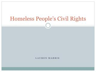 Homeless People's Civil Rights