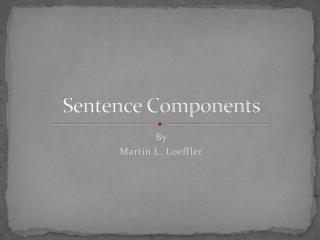 Sentence Components