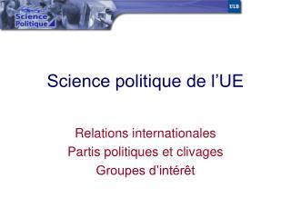Science politique de l UE