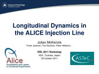Longitudinal Dynamics in the ALICE Injection Line