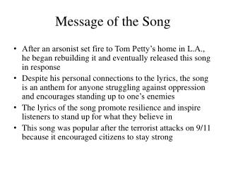 Message of the Song