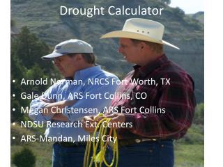 Drought Calculator