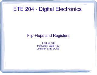 ETE  2 04  - Digital Electronics