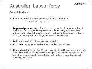 Australian Labour force