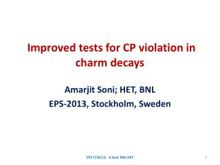 Improved tests for CP violation in charm decays