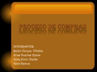 PROCESO DE COMPRAS