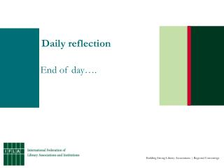 Daily reflection