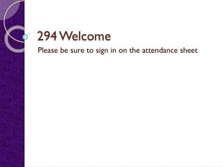 294 Welcome
