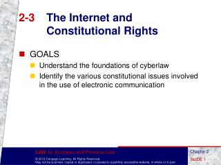 2-3	 The Internet and Constitutional Rights