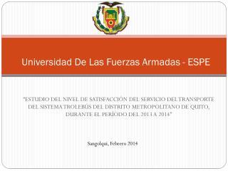 Universidad De Las Fuerzas Armadas - ESPE