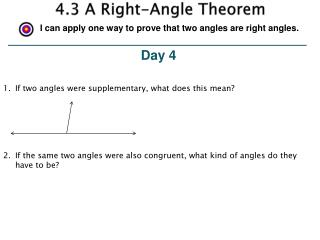 4.3 A Right-Angle Theorem